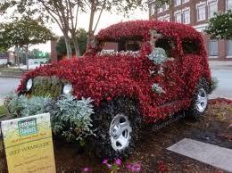 flowered jeep